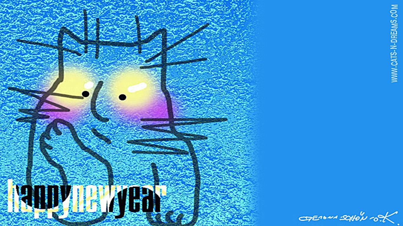 Winter Cats Desktop Wallpaper New Year Pictures Featuring Cats And Dragons Free