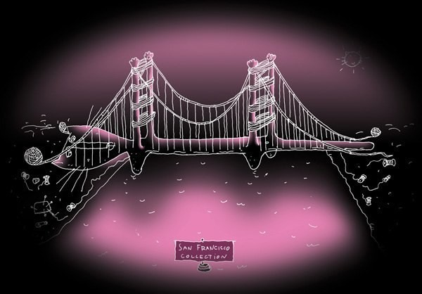 Poster San Francisco Golden Gate: