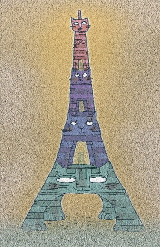 Poster of Eiffel tower in Paris